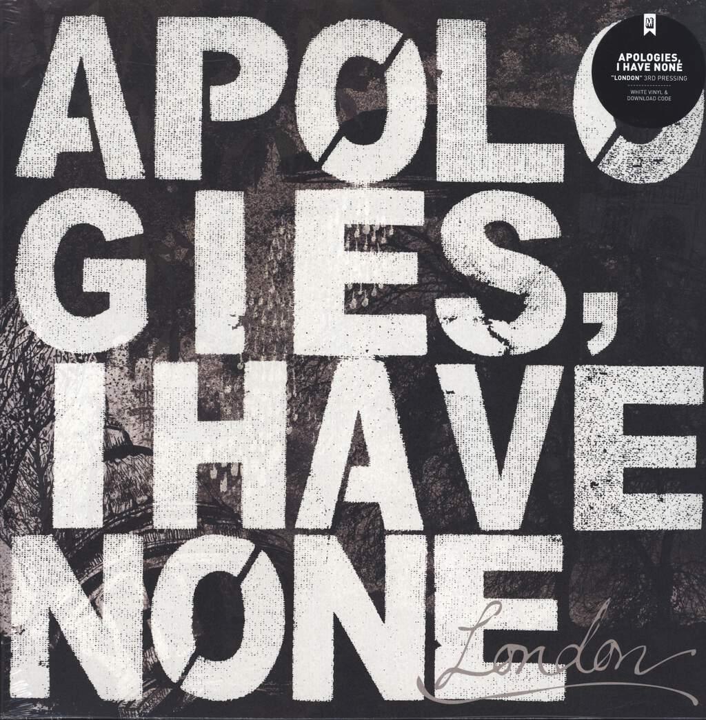 Apologies, I Have None: London, LP (Vinyl)