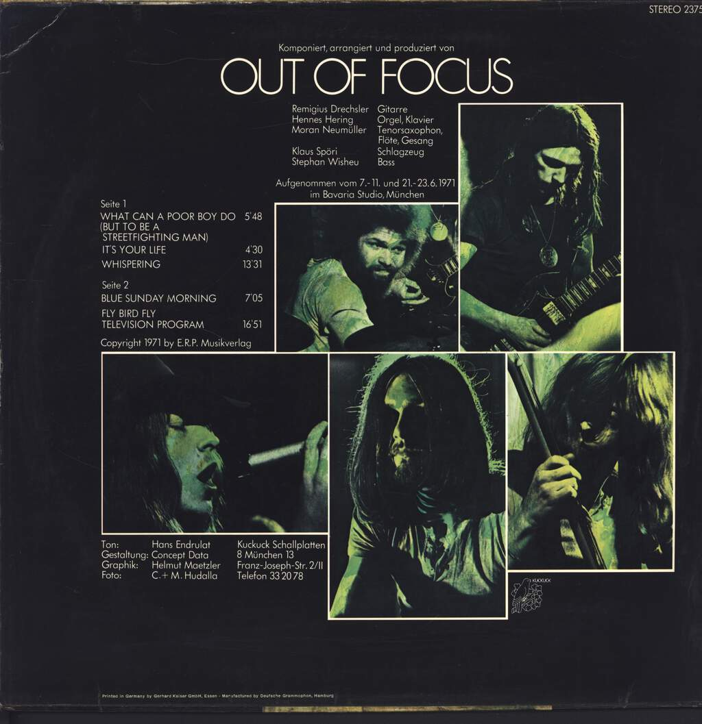 Out Of Focus: Out Of Focus, LP (Vinyl)