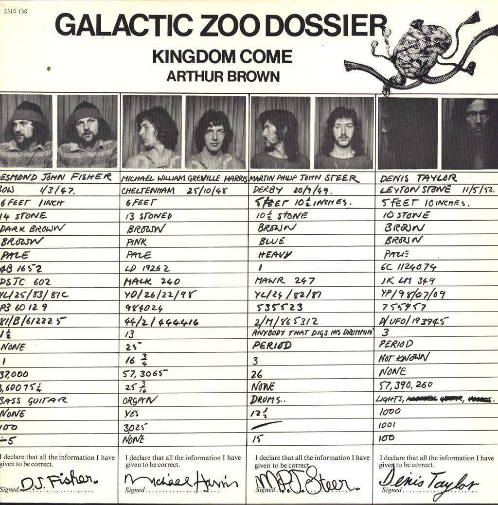 Arthur Brown's Kingdom Come: Galactic Zoo Dossier, LP (Vinyl)