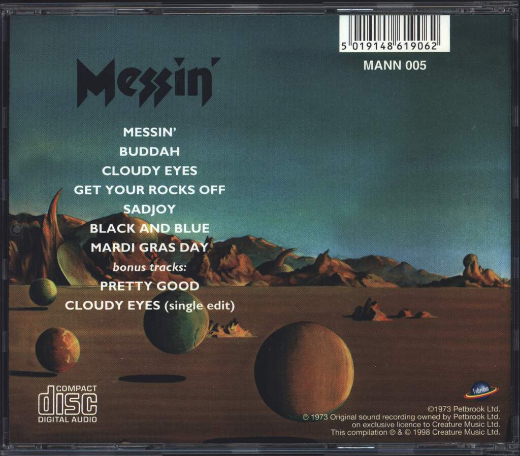 Manfred Mann's Earth Band: Messin', CD