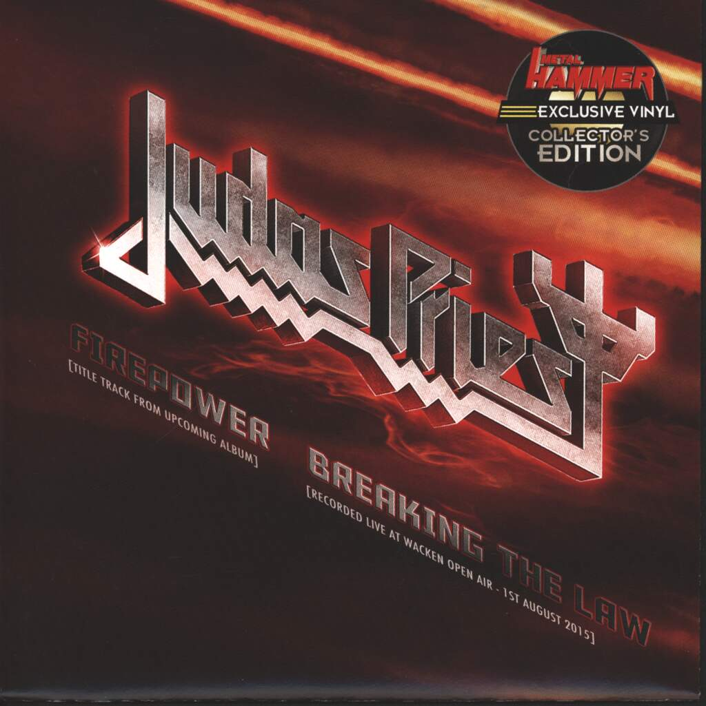 "Judas Priest: Firepower / Breaking The Law, 7"" Single (Vinyl)"