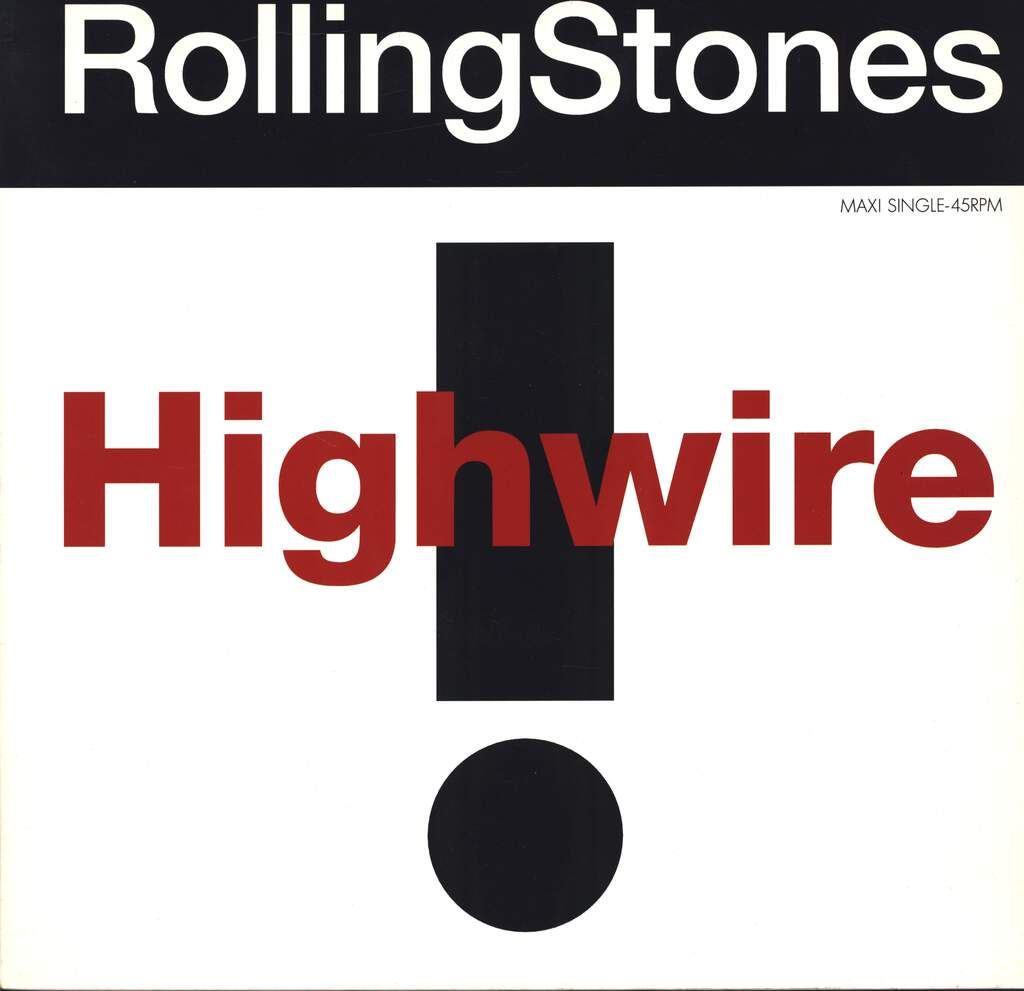 "The Rolling Stones: Highwire, 12"" Maxi Single (Vinyl)"