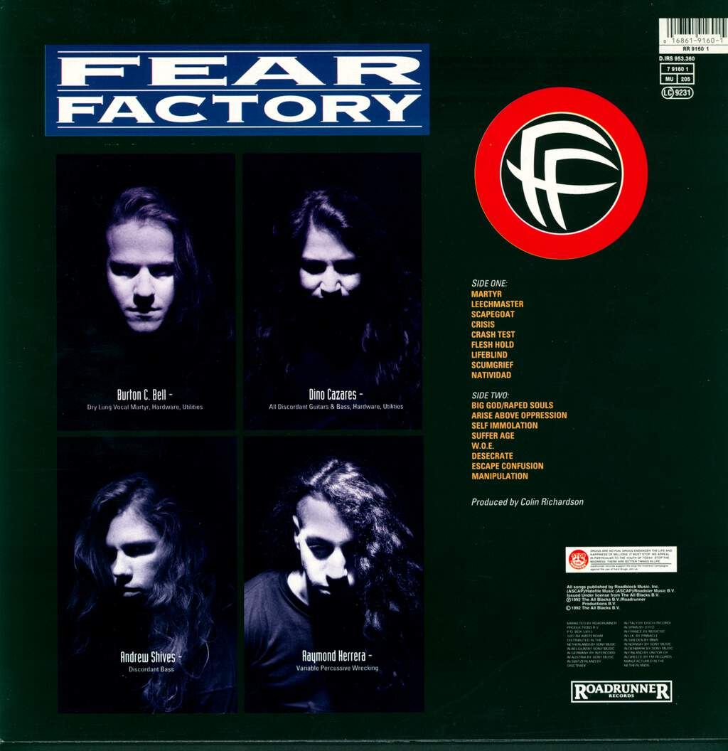 Fear Factory: Soul Of A New Machine, LP (Vinyl)