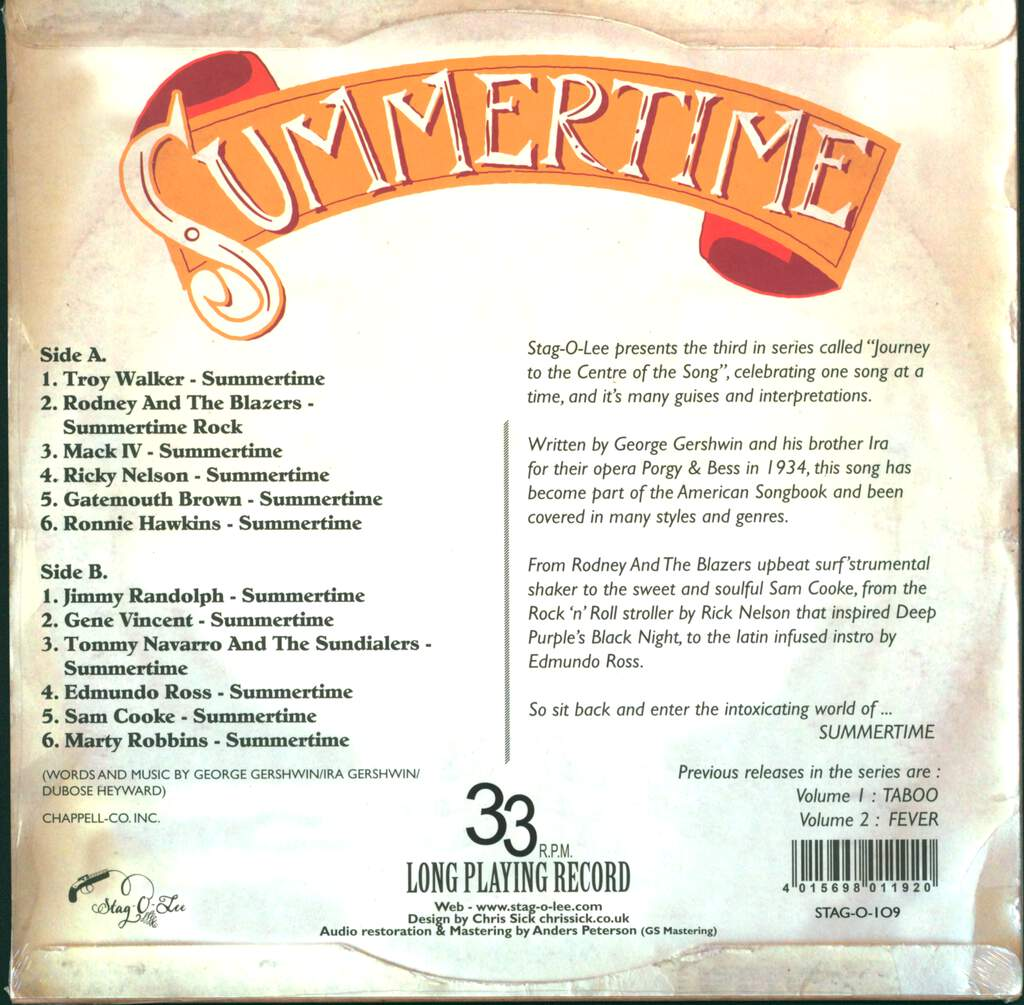 "Various: Summertime - An Exploration Into The Exotic World Of Summertime Volume 3, 10"" Vinyl EP"