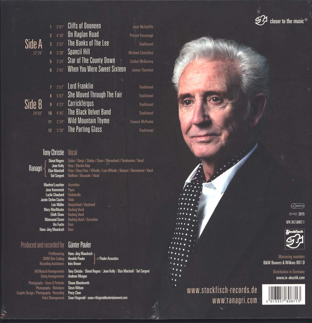 Tony Christie & Ranagri: The Great Irish Songbook, LP (Vinyl)