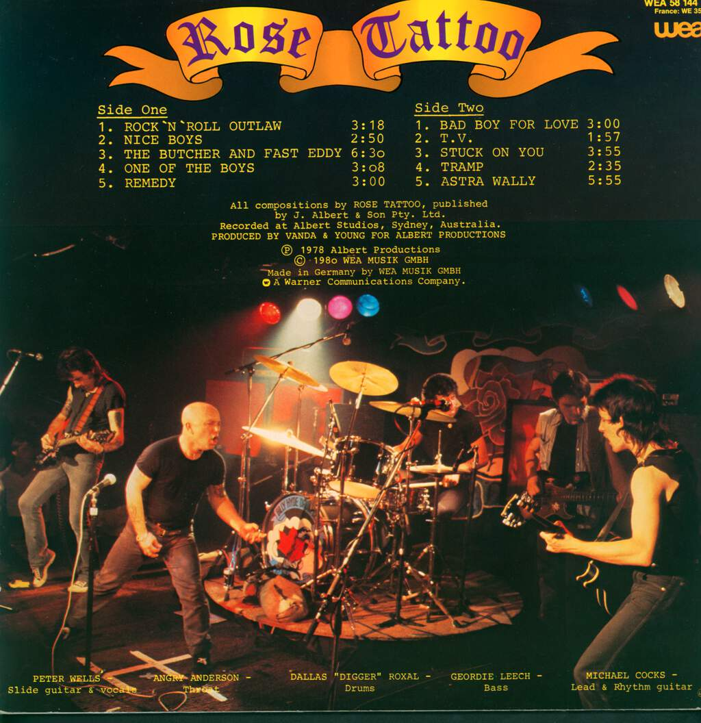 Rose Tattoo: Rock 'N' Roll Outlaw, LP (Vinyl)