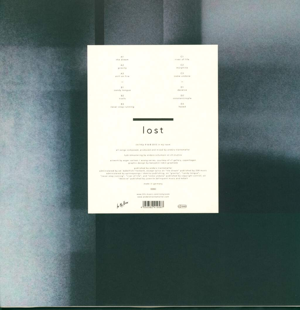 Trentemoller: Lost, LP (Vinyl)