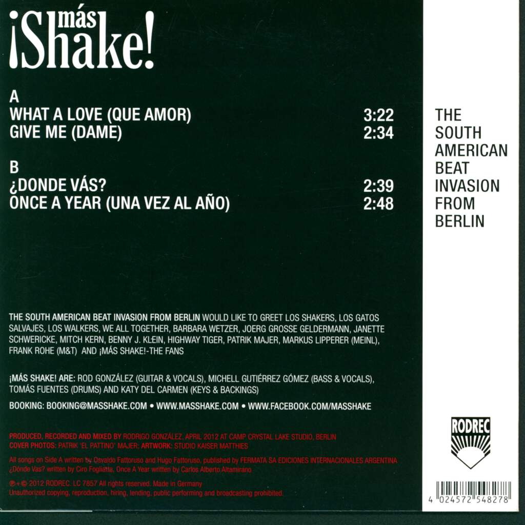 "¡Más Shake!: What A Love, 7"" Single (Vinyl)"