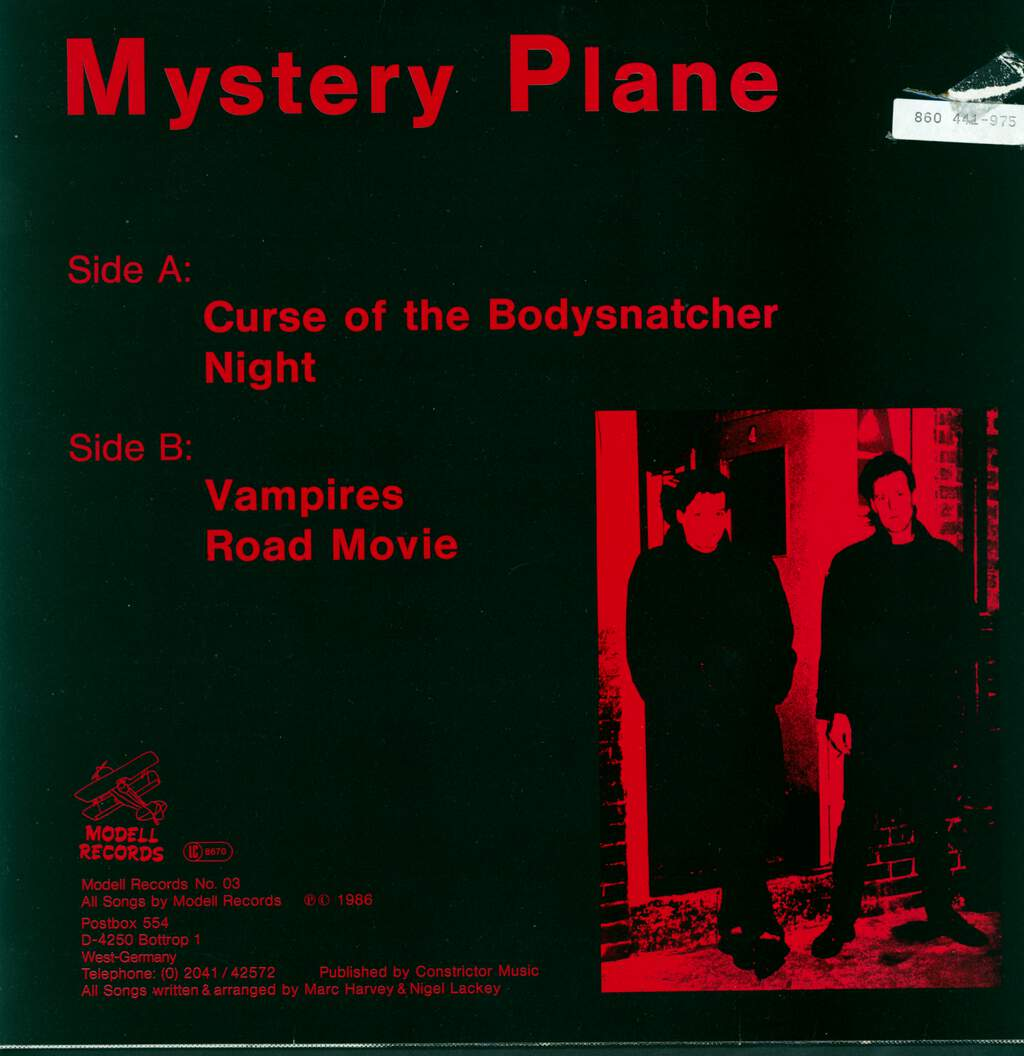 "Mystery Plane: Curse Of The Bodysnatcher, 12"" Maxi Single (Vinyl)"