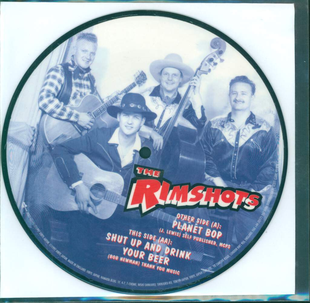 "Rimshots: Planet Bop / Shut Up And Drink Your Beer, 7"" Single (Vinyl)"