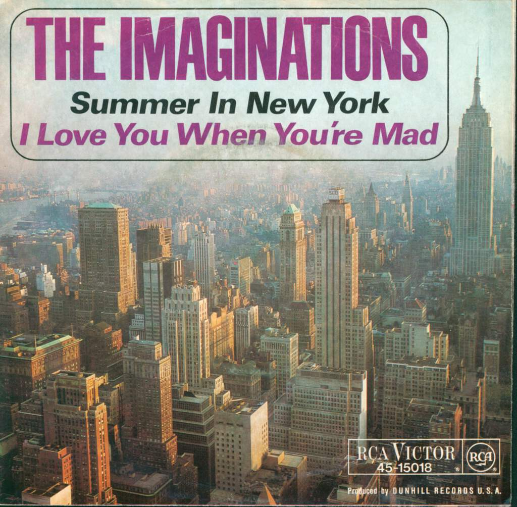 "The Imaginations: Summer In New York / Love You When You're Mad, 7"" Single (Vinyl)"