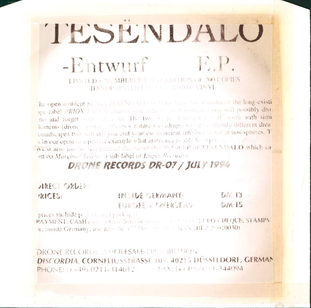 "Tesendalo: Entwurf, 7"" Single (Vinyl)"