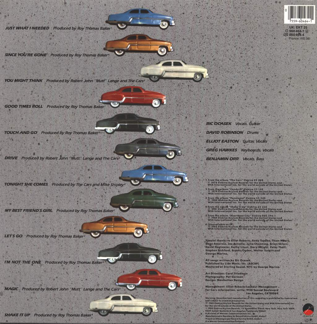 The Cars: The Cars Greatest Hits, LP (Vinyl)
