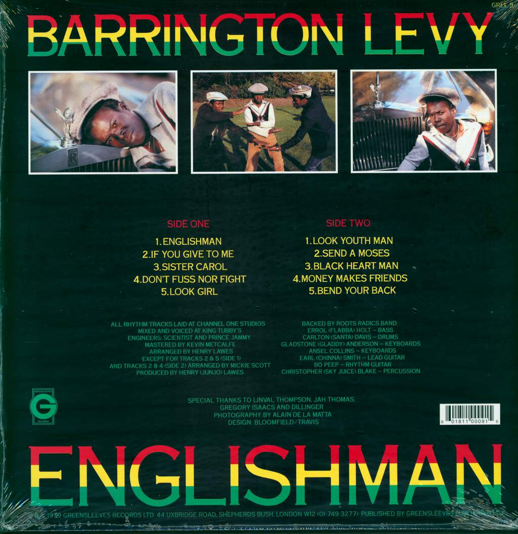 Barrington Levy: Englishman, LP (Vinyl)