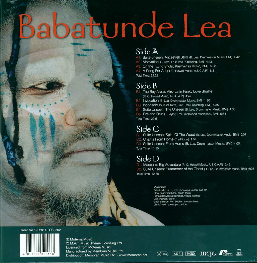Babatunde Lea: Suite Unseen : Summoner Of The Ghost, LP (Vinyl)