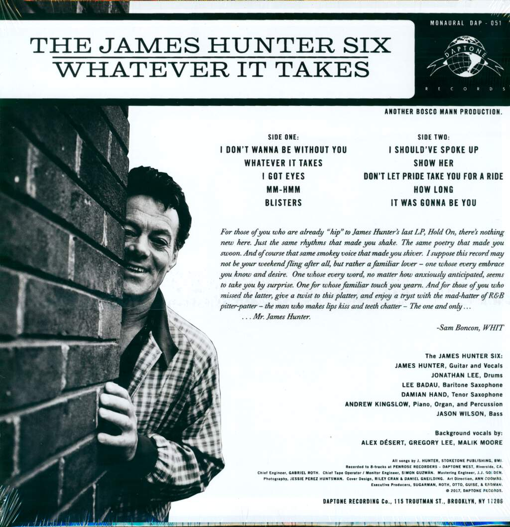 The James Hunter Six: Whatever It Takes, LP (Vinyl)