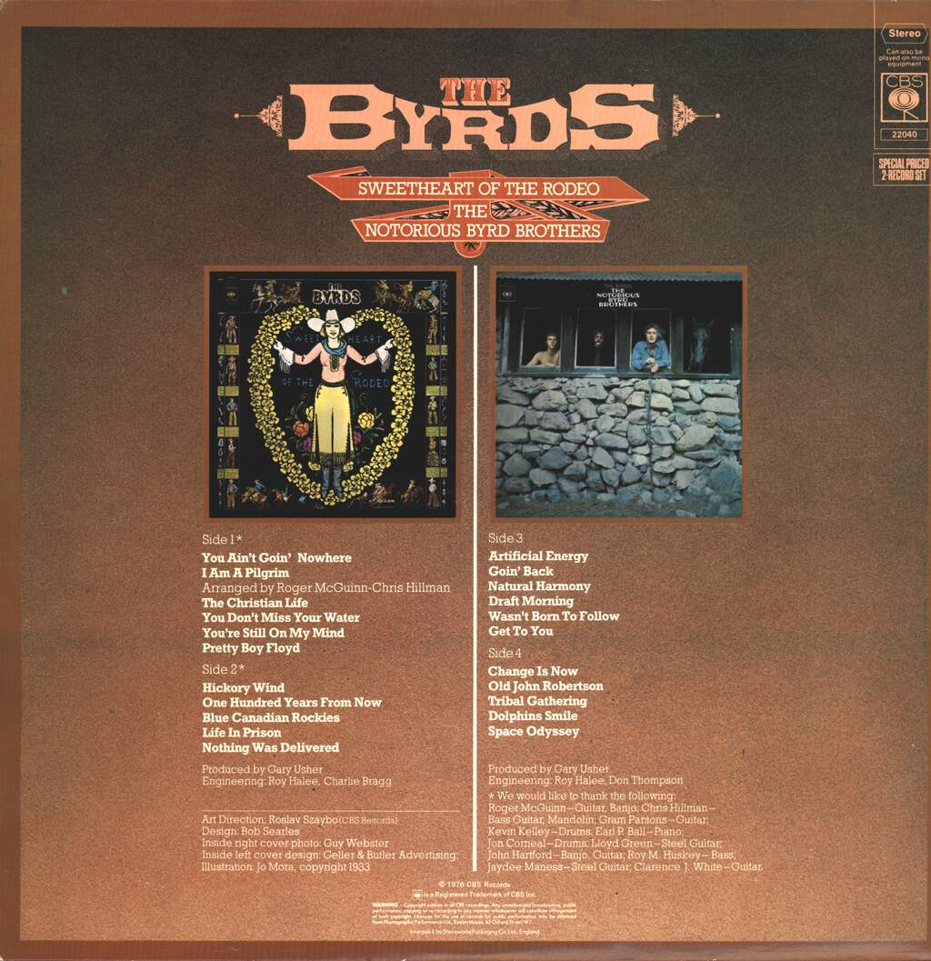 The Byrds: Sweetheart Of The Rodeo / The Notorious Byrd Brothers, LP (Vinyl)