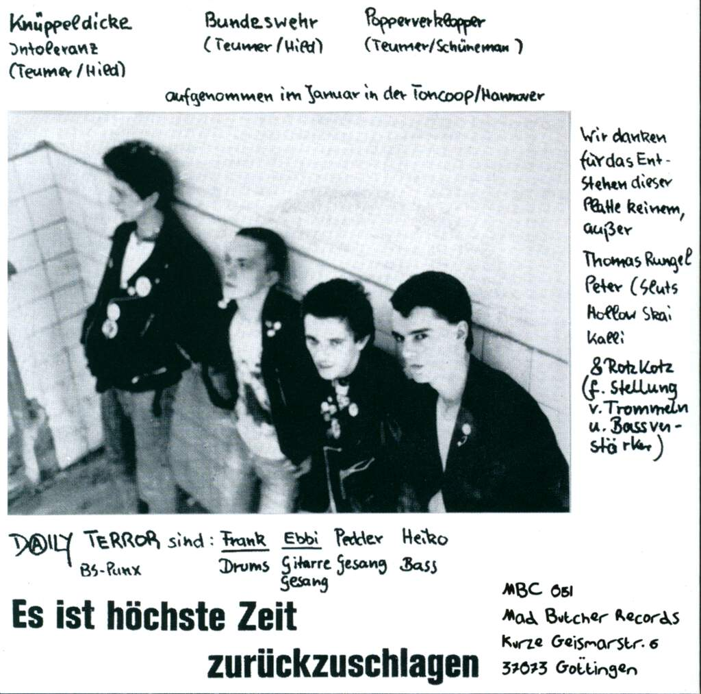 "Daily Terror: BS-Punx, 7"" Single (Vinyl)"