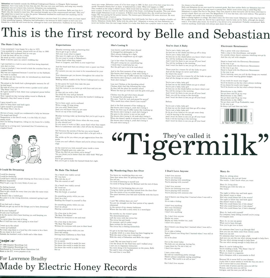 Belle & Sebastian: Tigermilk, LP (Vinyl)