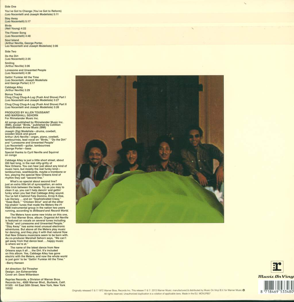 The Meters: Cabbage Alley (Bonus Tracks), LP (Vinyl)