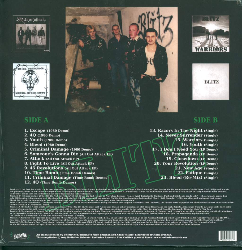 Blitz: Time Bomb Early Singles And Demos Collection, LP (Vinyl)