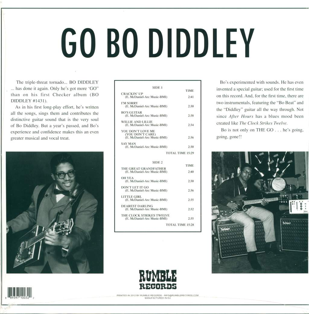 Bo Diddley: Go Bo Diddley, LP (Vinyl)
