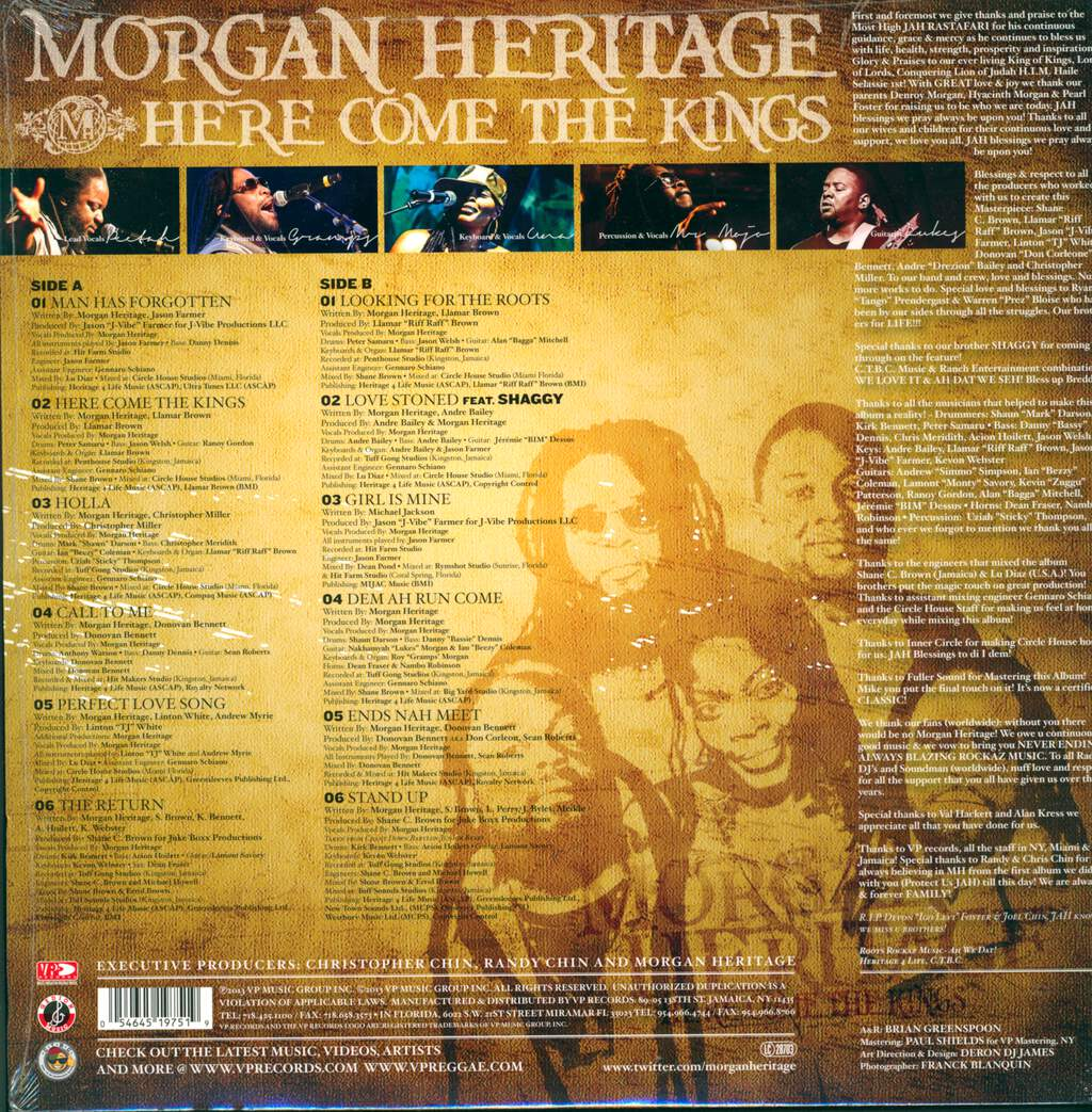 Morgan Heritage: Here Come The Kings, LP (Vinyl)