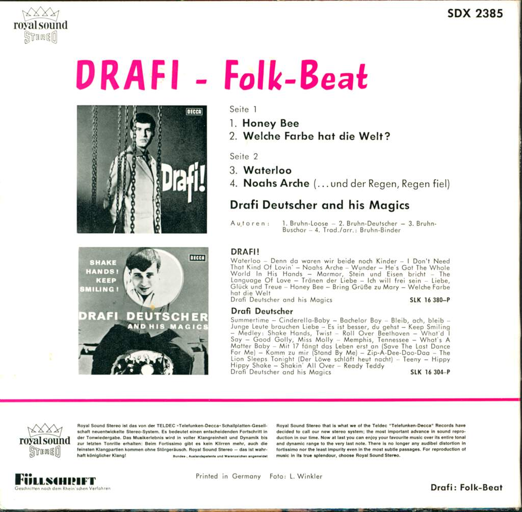 "Drafi Deutscher And His Magics: Folk-Beat, 7"" Single (Vinyl)"