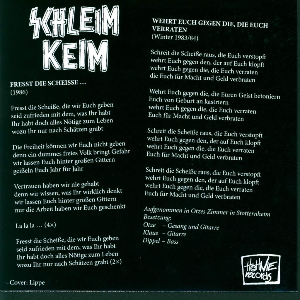 "Schleim-Keim: Alles In Rot, 7"" Single (Vinyl)"