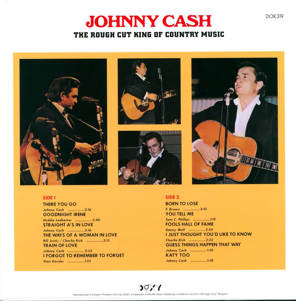 Johnny Cash: The Rough Cut King Of Country Music, LP (Vinyl)