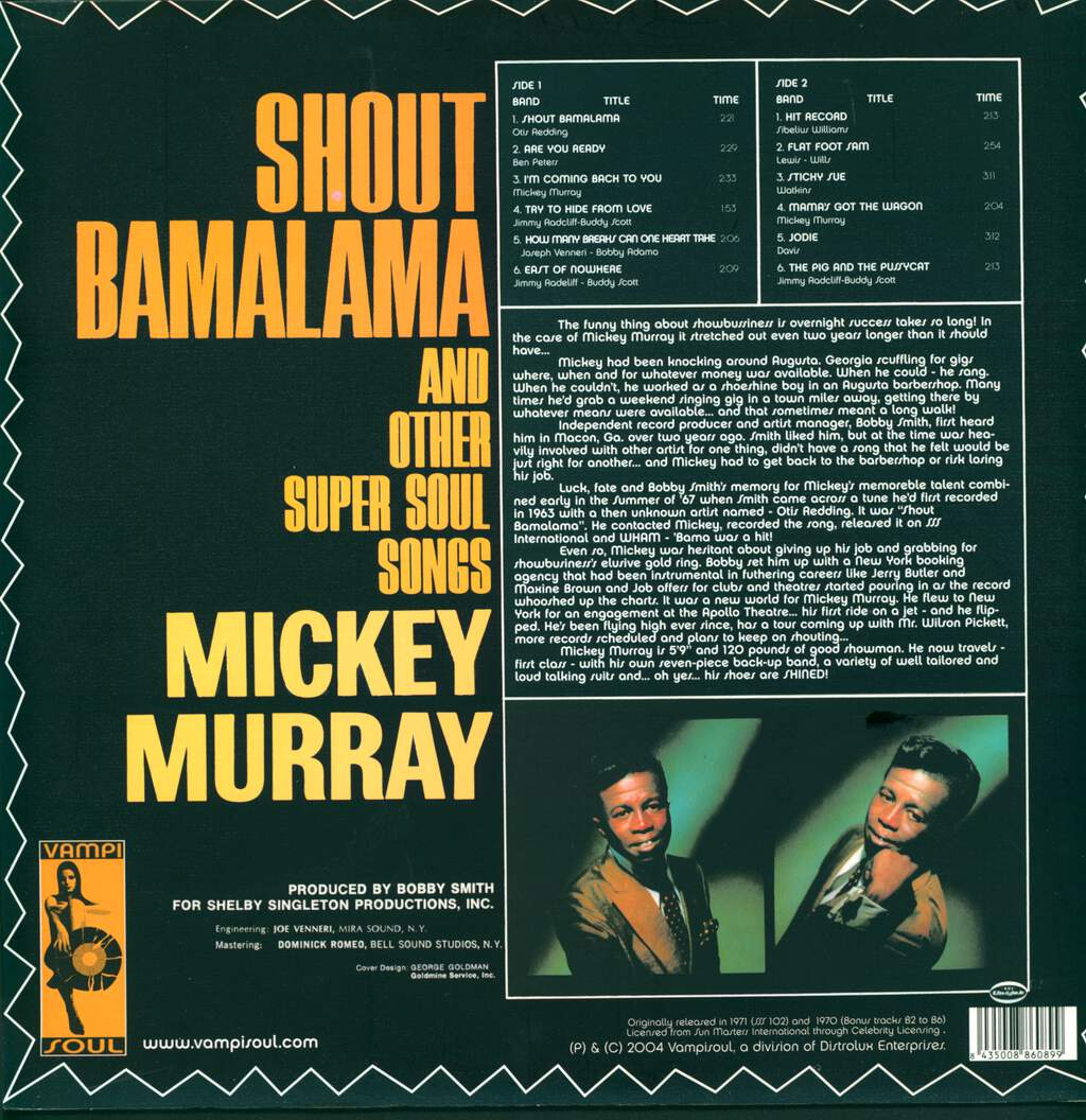 Mickey Murray: Shout Bamalama And Other Super Soul Songs, LP (Vinyl)