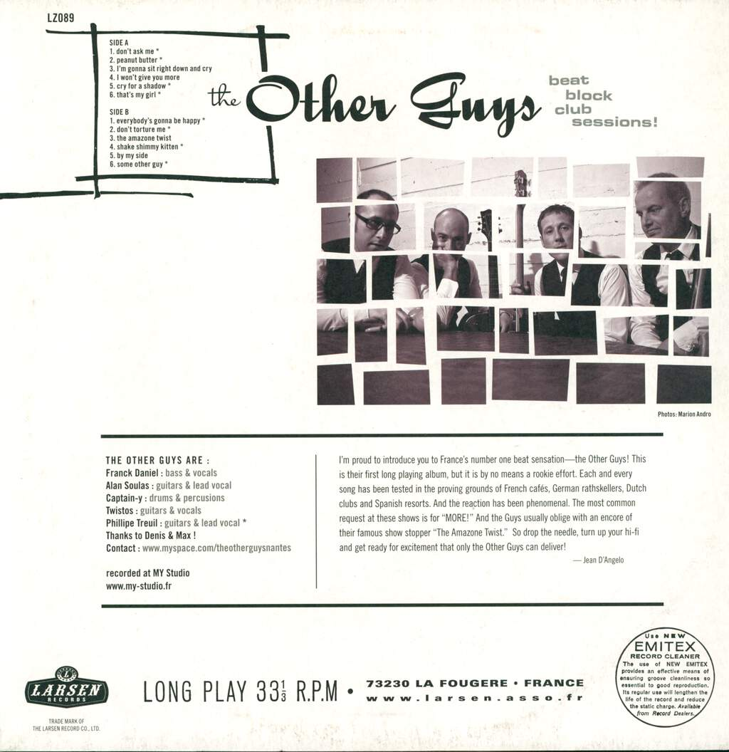 The Other Guys: Beat Block Club Sessions!, LP (Vinyl)
