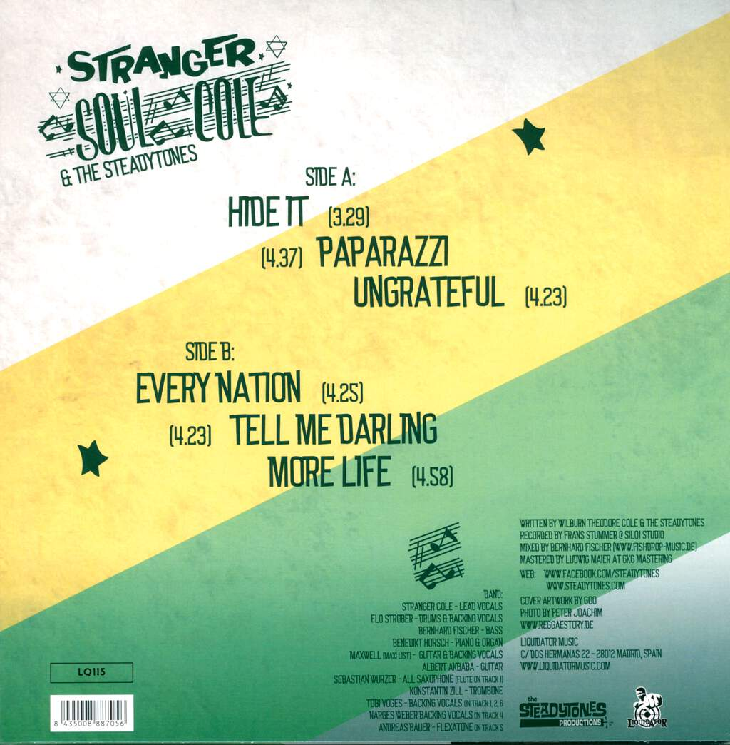 Stranger Cole & The Steadytones: More Life, LP (Vinyl)