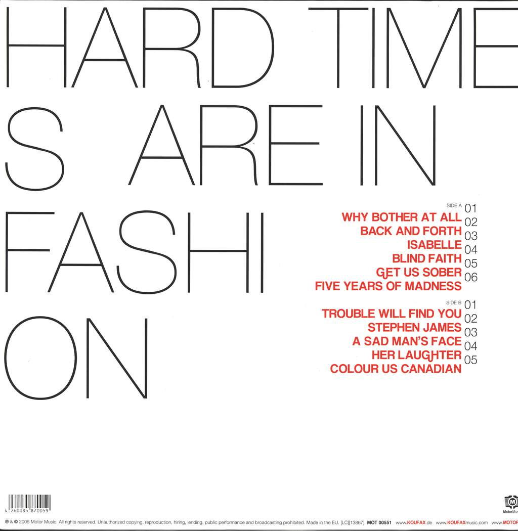 Koufax: Hard Times Are In Fashion, LP (Vinyl)