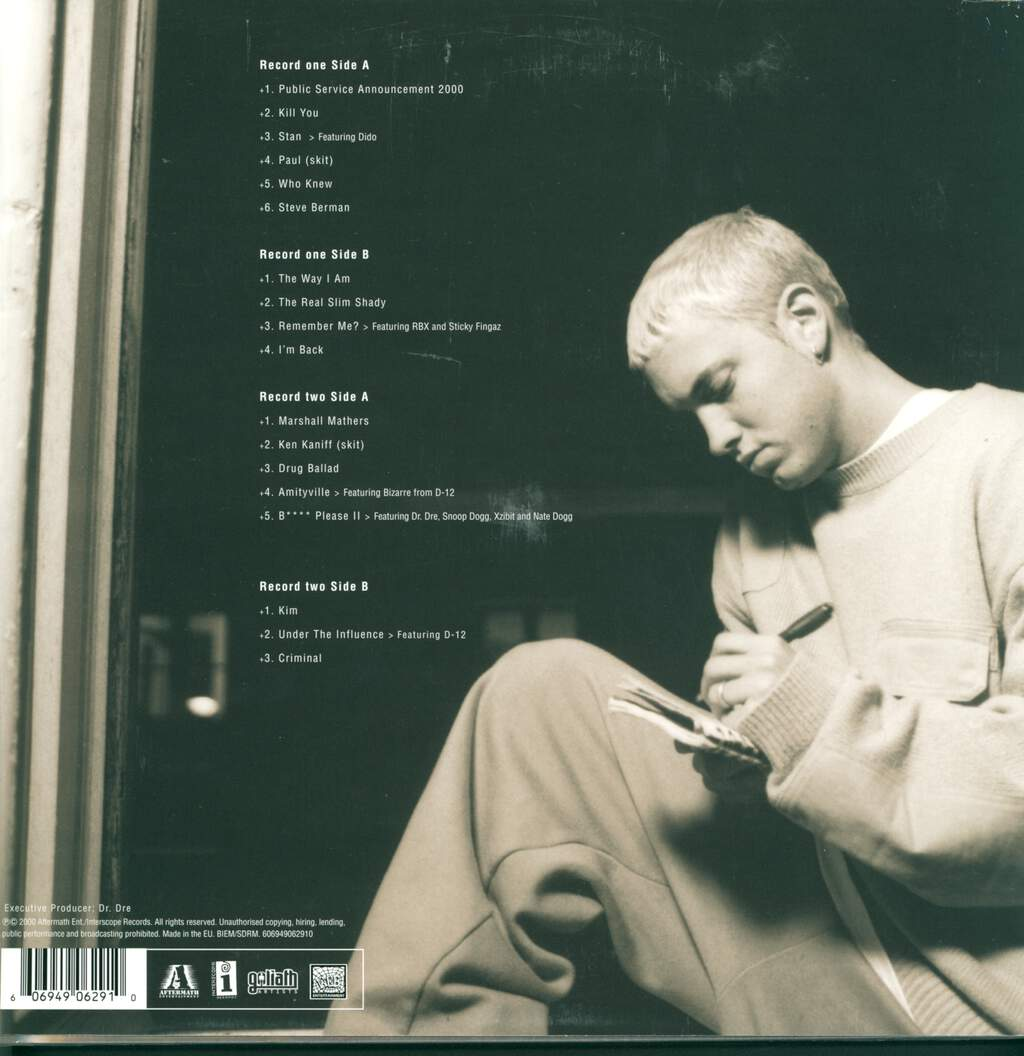 Eminem: The Marshall Mathers LP, 2×LP (Vinyl)