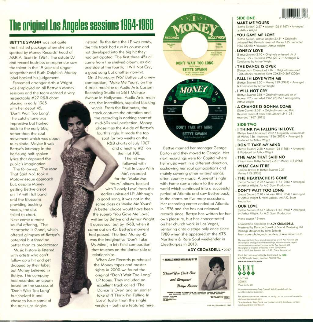 Bettye Swann: The Money Masters, LP (Vinyl)