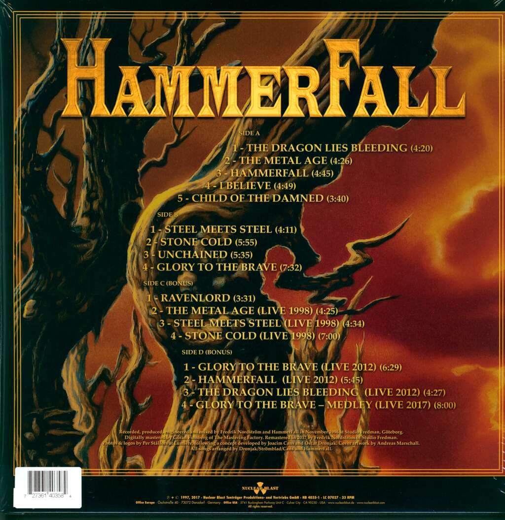 Hammerfall: Glory To The Brave, LP (Vinyl)