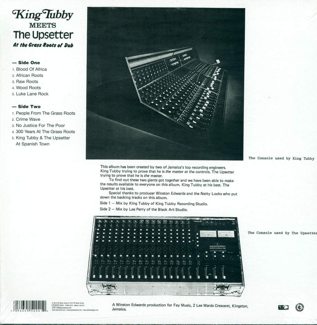 King Tubby: At The Grass Roots Of Dub, LP (Vinyl)