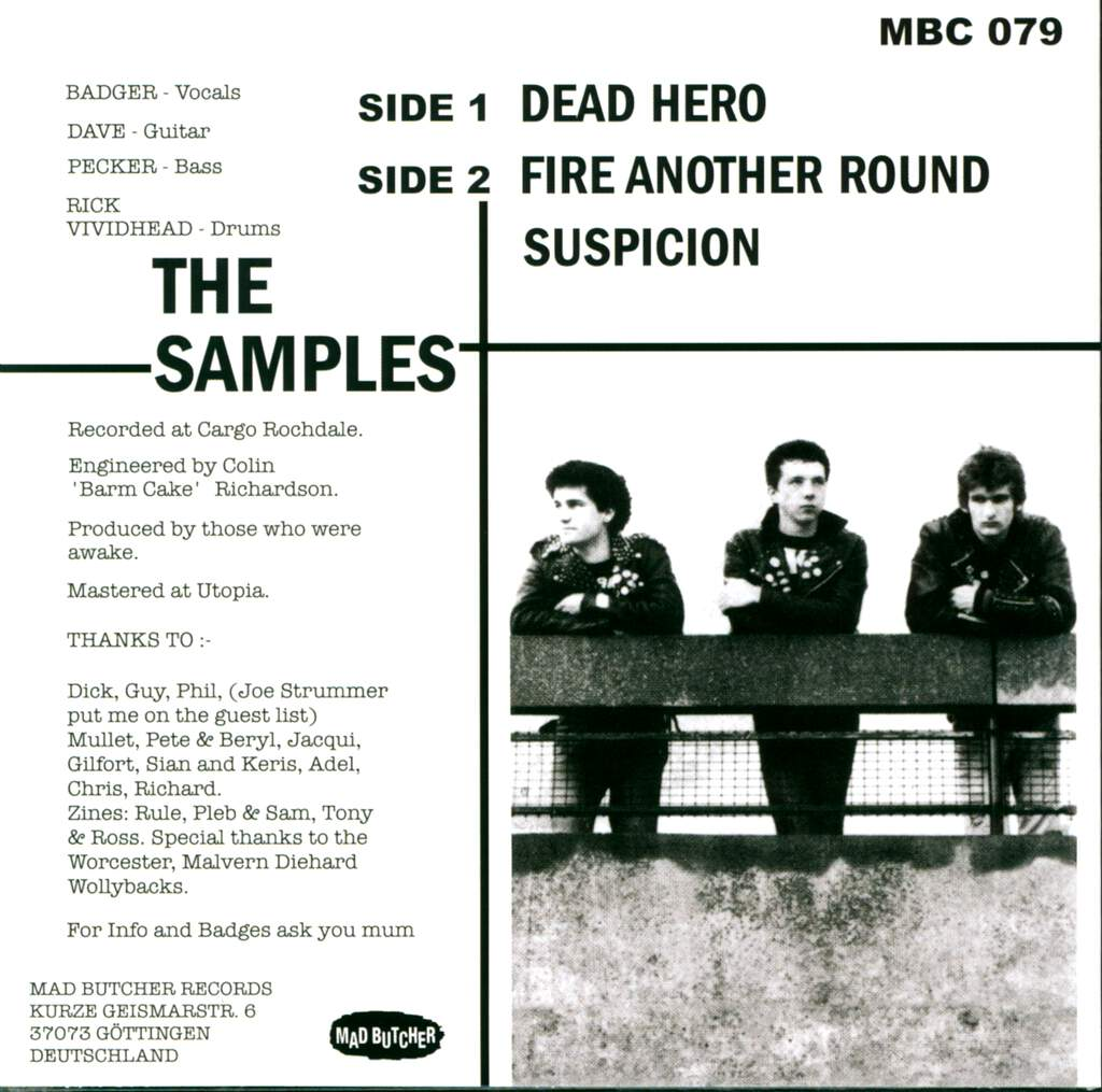 "The Samples: Dead Hero, 7"" Single (Vinyl)"