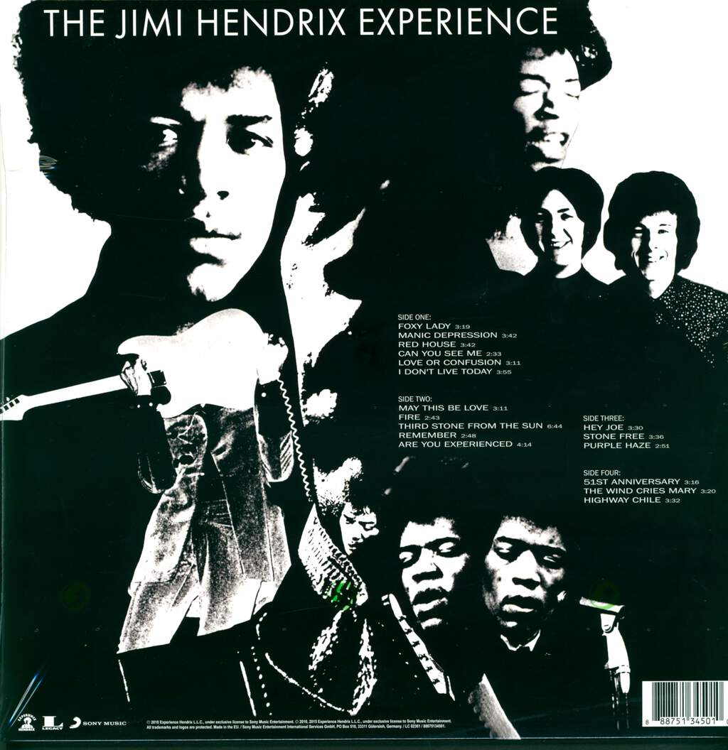 The Jimi Hendrix Experience: Are You Experienced, 2×LP (Vinyl)