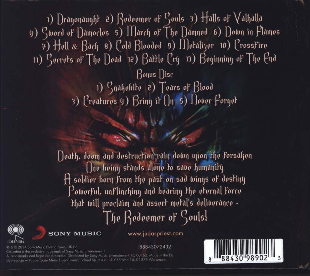 Judas Priest: Redeemer Of Souls, 2×CD