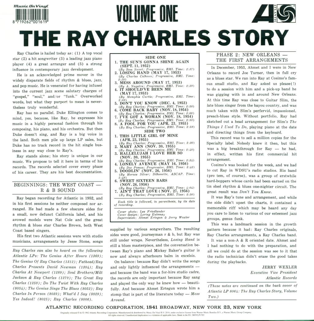 Ray Charles: The Ray Charles Story (Volume One), LP (Vinyl)