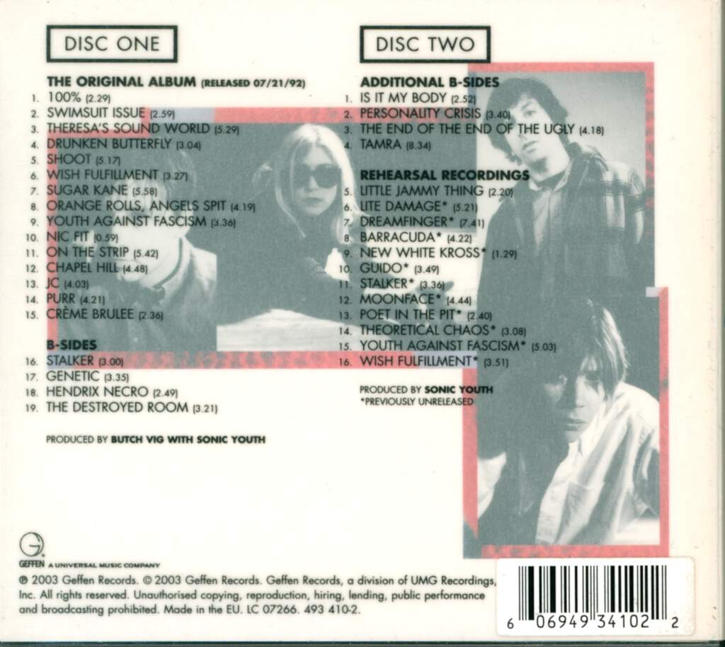 Sonic Youth: Dirty, CD