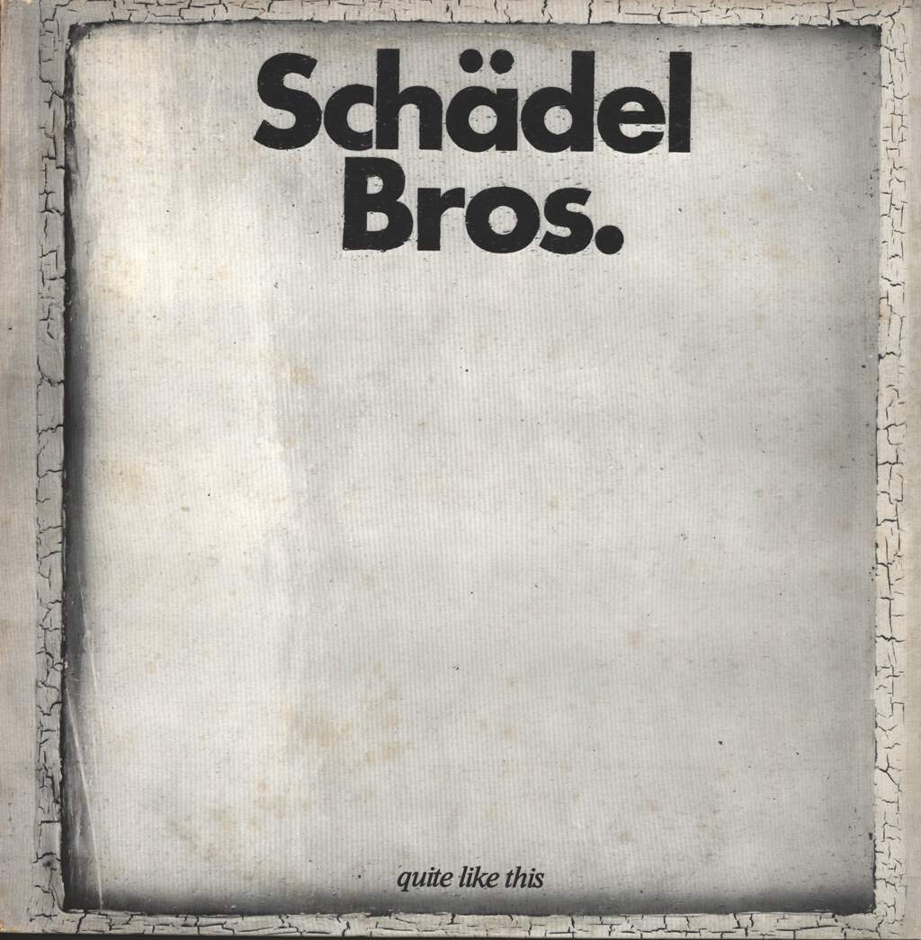 Schädel Bros.: Quite Like This, LP (Vinyl)