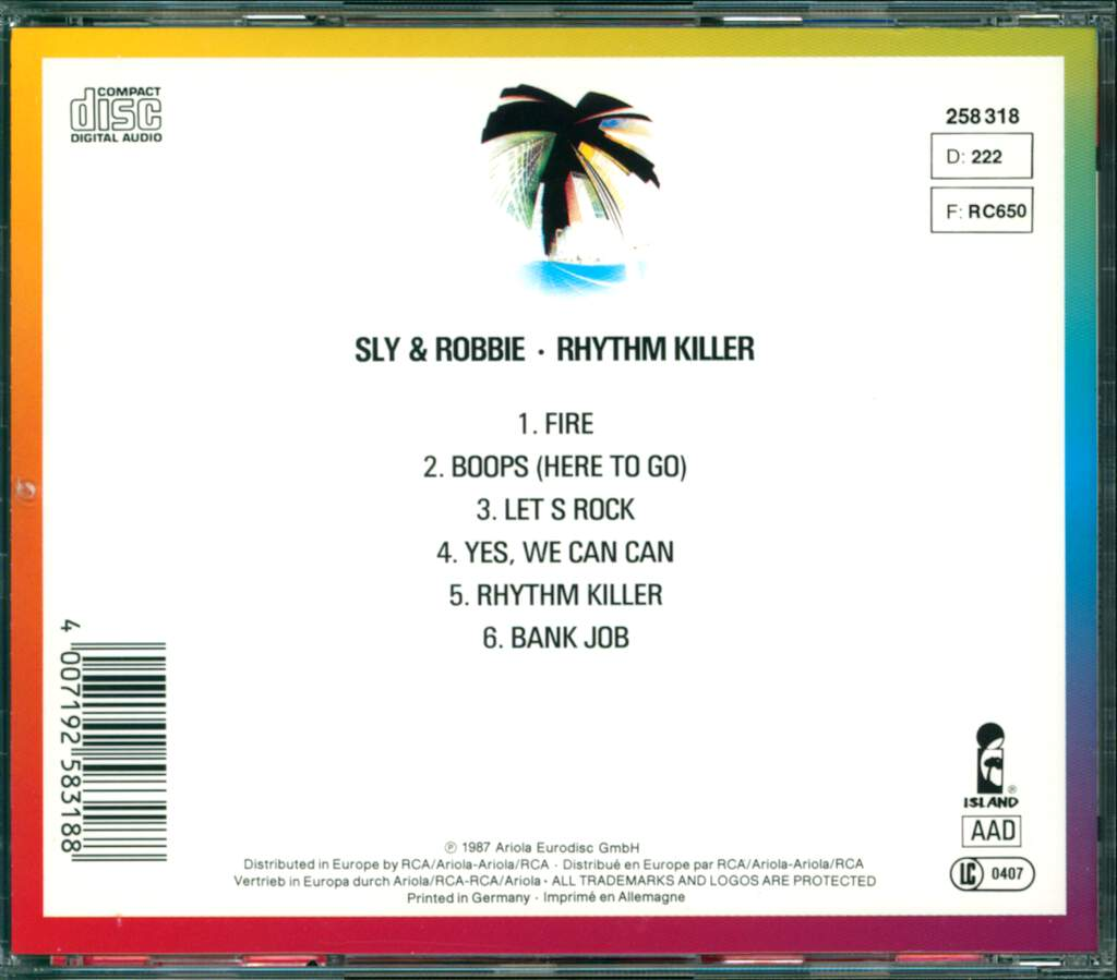 Sly + Robbie: Rhythm Killers, CD