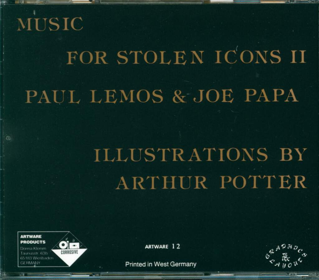 Paul Lemos: Music For Stolen Icons II, CD