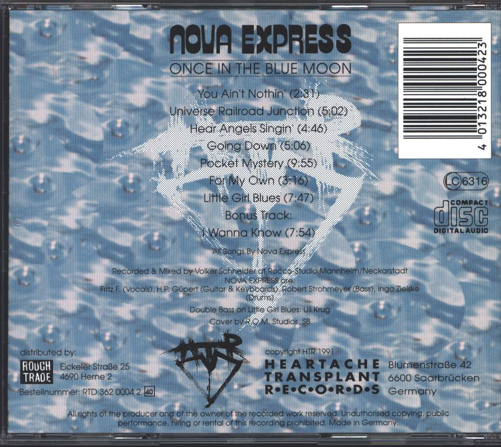Nova Express: Once In The Blue Moon, CD