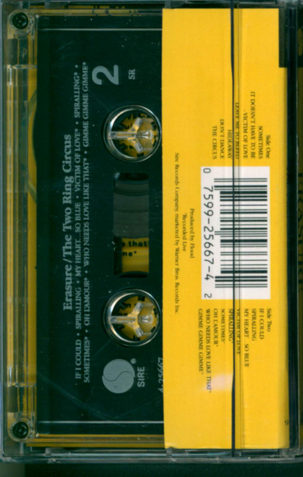 Erasure: The Two Ring Circus, Compact Cassette