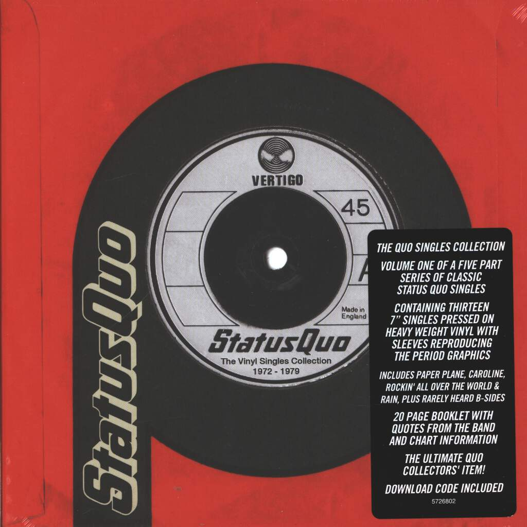 "Status Quo: The Vinyl Singles Collection 1972-1979, 7"" Single (Vinyl)"