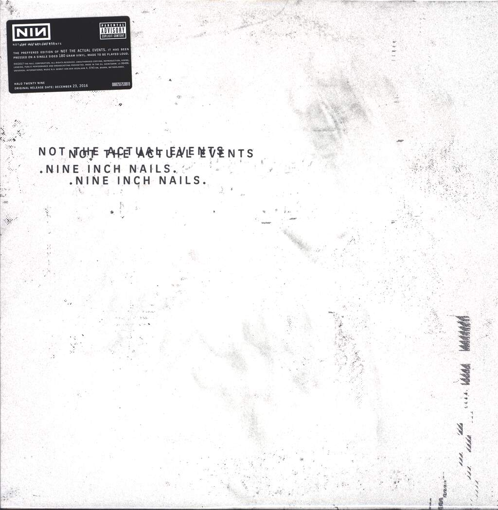 """Nine Inch Nails: Not The Actual Events, 12"""" Maxi Single (Vinyl)"""